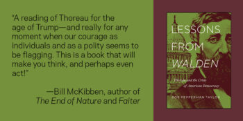 """""""Lessons from Walden"""" Receives APSA Best Book in American Political Thought Prize"""