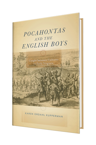 Pocahontas and the English Boys front cover by Karen Kupperman