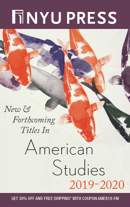 Cover of American Studies 2019 subject catalog, purple orange and white fishes from the Cruising Utopia cover.