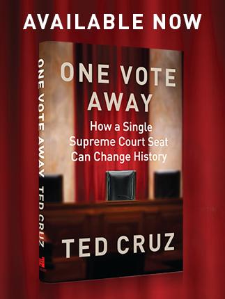 ted cruz, one vote away, ted cruz book