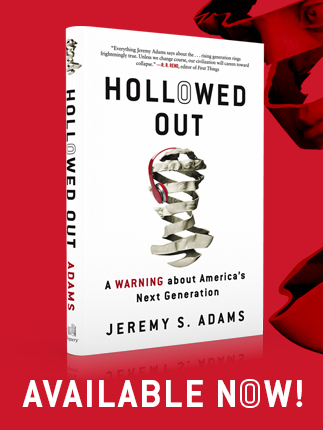 hollowed out book, jeremy adams