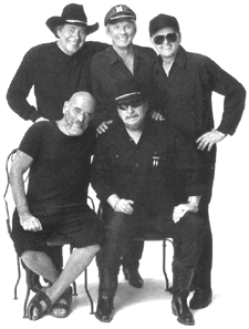 This is a picture Shel Silverstein, Bobby Bare, Mel Tillis, Jerry Reed, and Waylon Jennings.