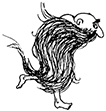 This is a picture of a barefoot character with a very long beard.