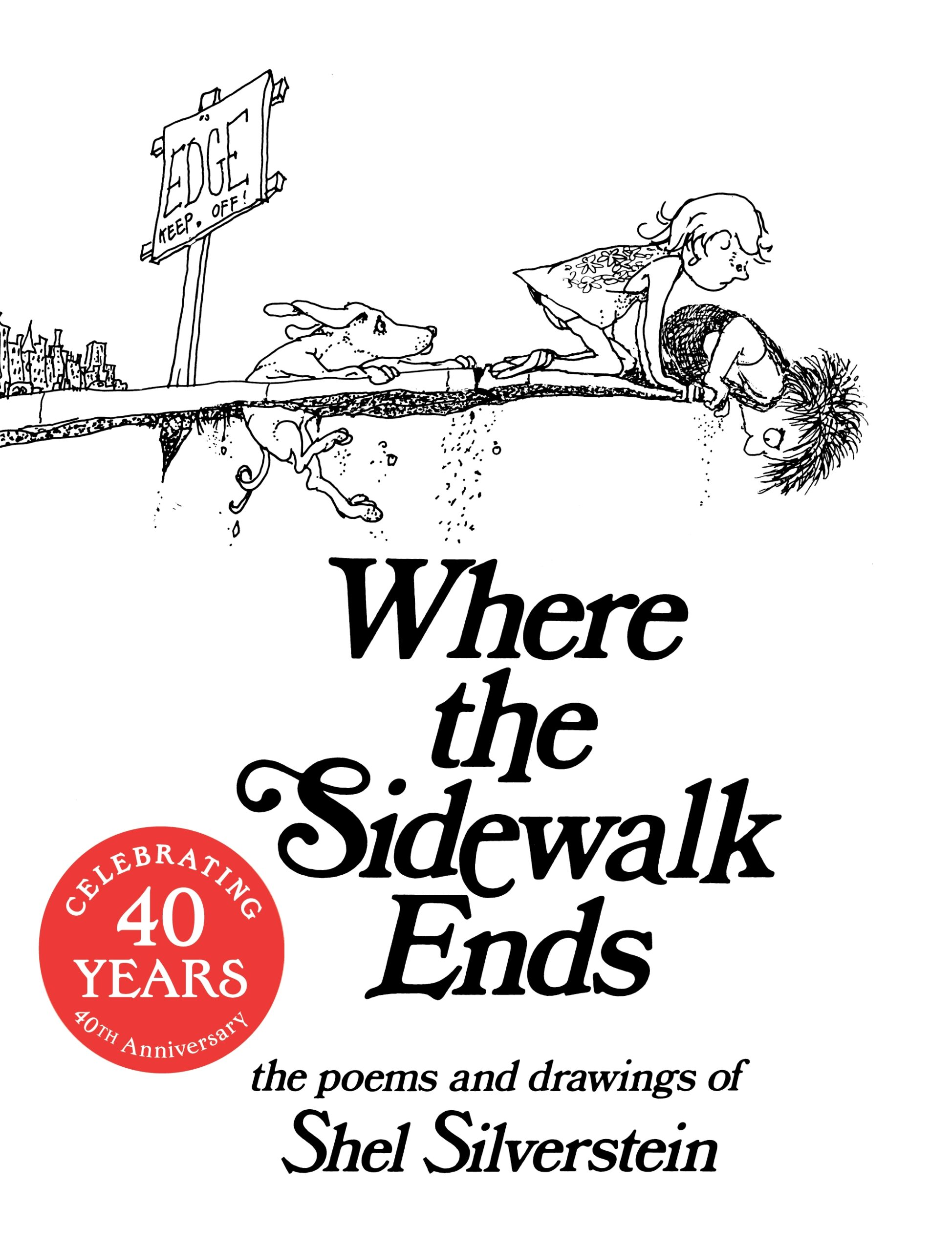 This is a picture of the cover of Where the Sidewalk Ends.