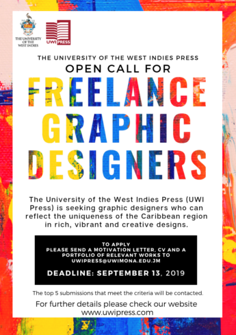 The University of the West Indies Press Open Call for Freelance Graphic Designers