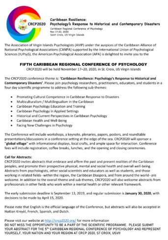 Caribbean Regional Conference of Psychology