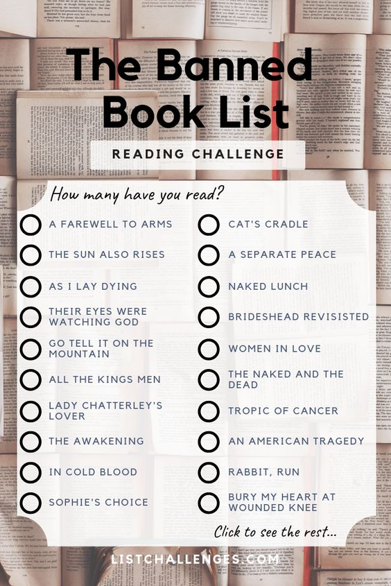 banned books reading challenge