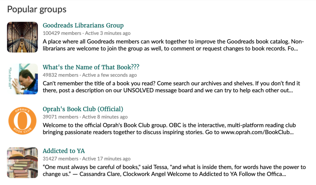 goodreads book club
